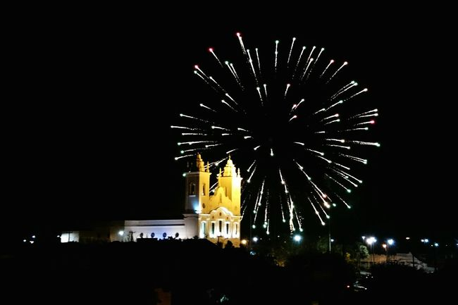 New Year Around The World Celebration New Year Celebration Fireworks Church Blacksky