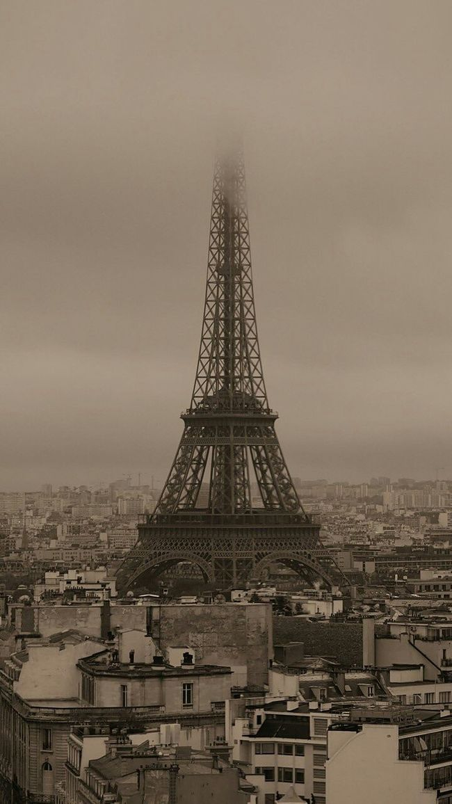 Paris ❤, Effel Tower, Black & White, Beautiful View ❤, City, Traveling