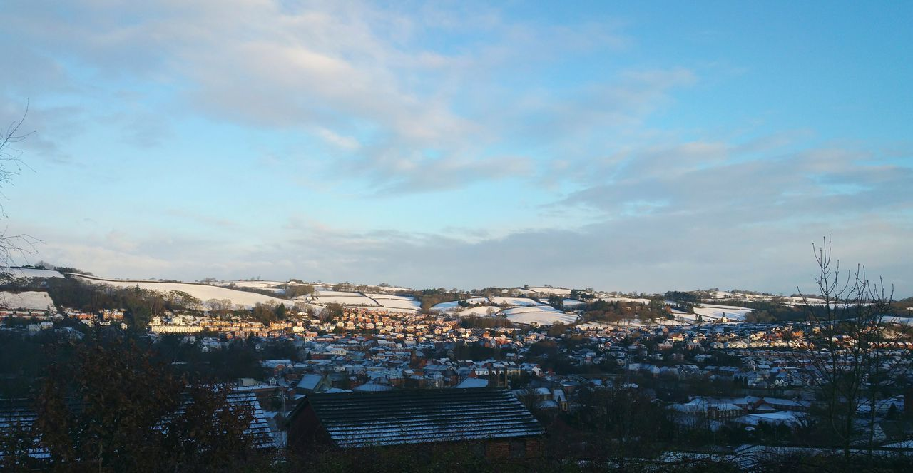 ... this morning in Newtown Powys ... Dramatic Sky Cityscape Day Sky Cloud - Sky No People Outdoors Winter Snow Town Townscapes Wales Winter Cityscape Hills Panoramic зима город снег Inverno Sunlight Sunny Day Rural Town Uk Town And Country