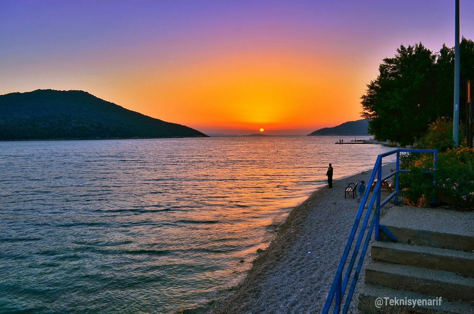Kaş Olympos beach sunset Kas Olympos Beach Sunset Beach Evining Holiday Beautiful