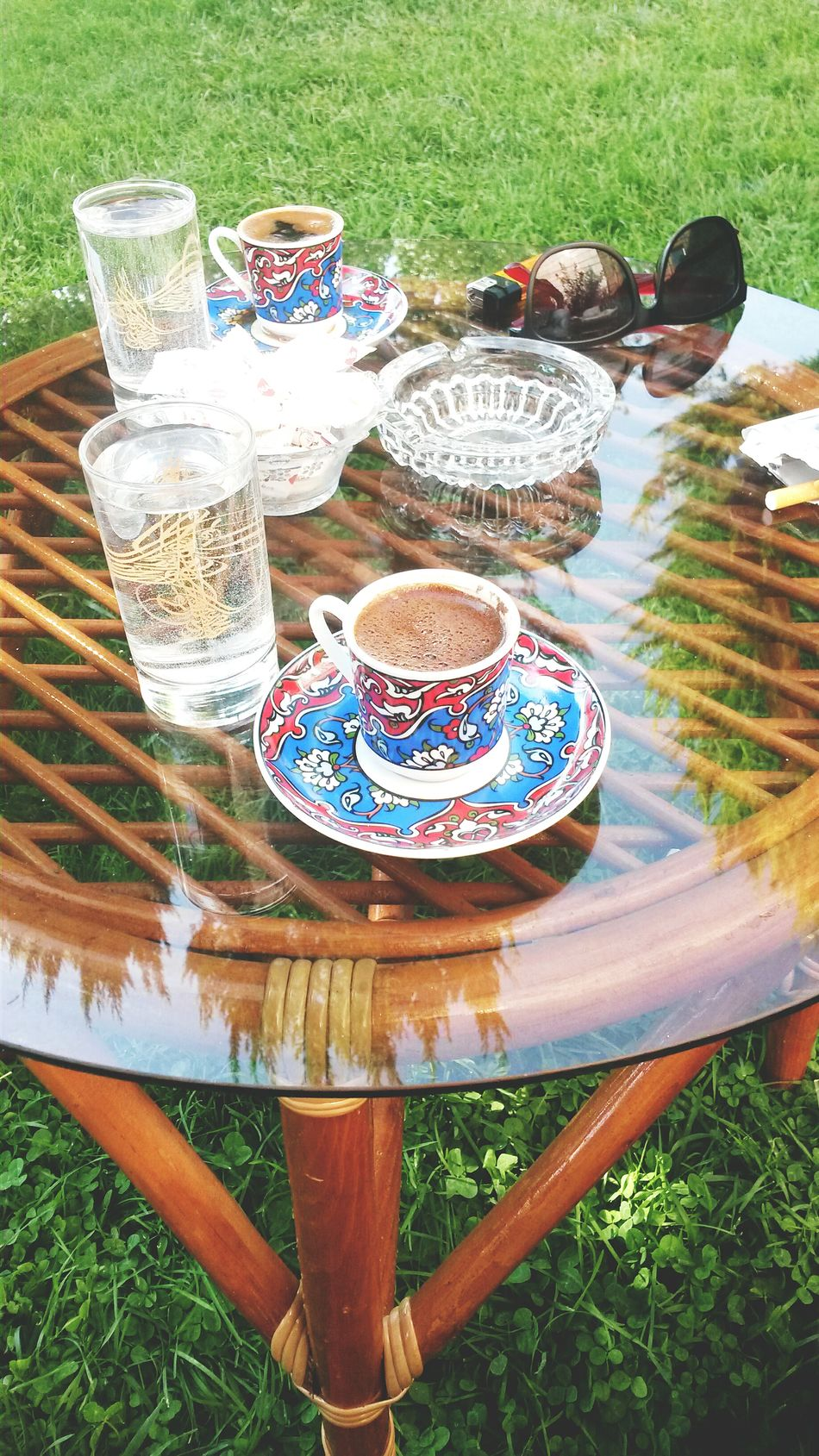 Coffee Coffee Time Coffee And Cigarettes Turkishcoffee Turkish Coffee Turkey Turkeydenizili♥ Green Green Green!  Amatörfotoğraf Mobilephotography Mobile Photography Mobile_photographer Love Glasses Redglasses Blackglasses Wather Ottoman Style