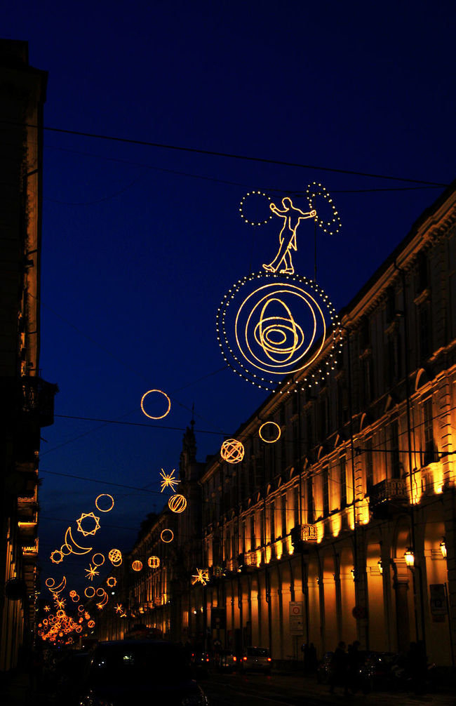 Christmas City City Decoration Electricity  Illuminated Italy Lights Modern Night Palomar Street Street Light Street Lights Torino Turin Urban The Culture Of The Holidays
