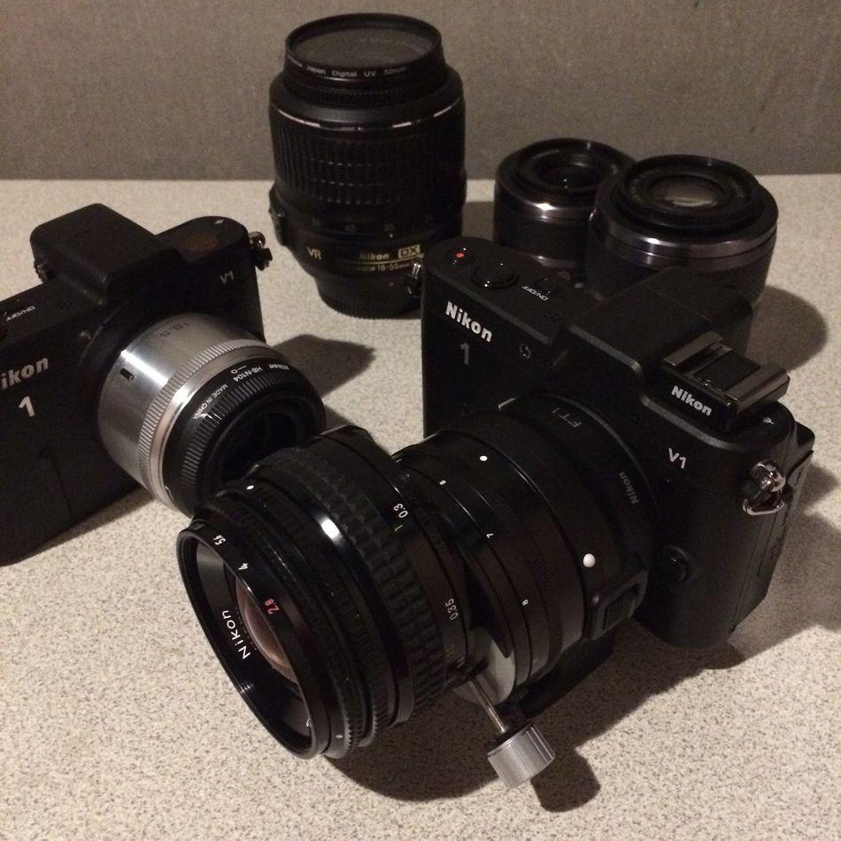 Nikon 1 V1 with NIKKOR 35 PC
