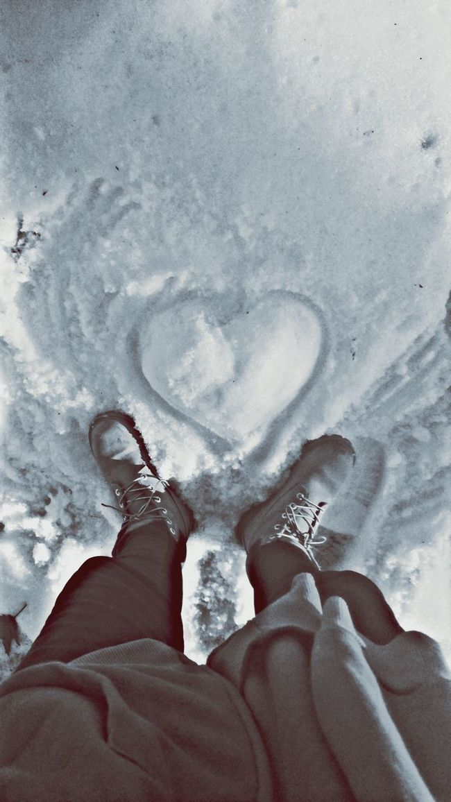 Standing over da love🌟💖Snow❄⛄ Winter 2016 Snowheart Love ♥ Boots Playing In The Snow👣 Heart Shapes In Nature White Snow Aftermath Of Snowstorm '16 Taking Advantage Of Natures Beauty Im Lovin It 💥