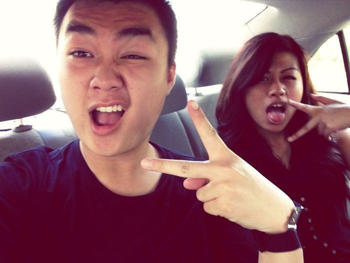 #selfie #gangsign #besties