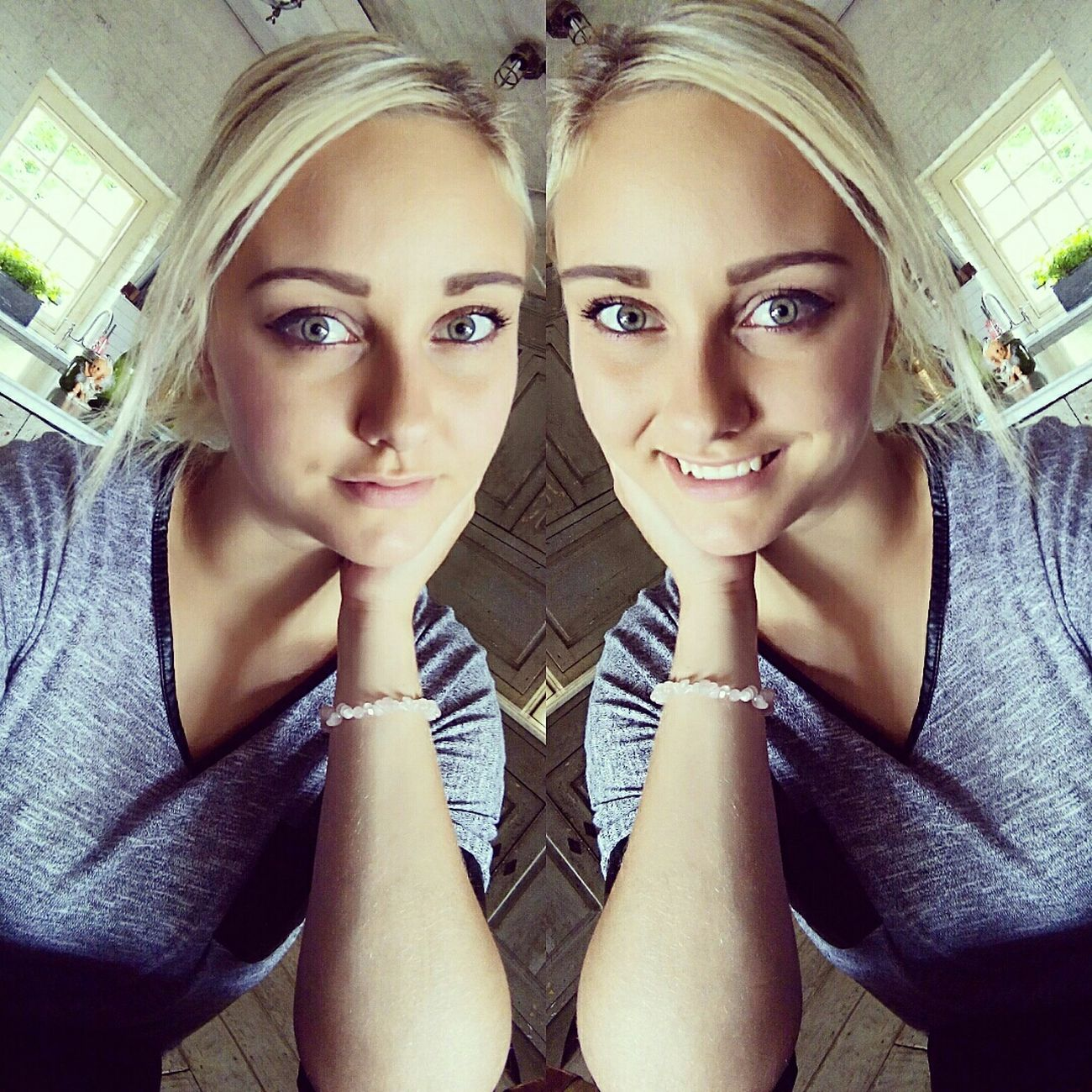 Hello World Blonde Smile Green Eyes Happiness Thats Me ♥ Makeup Cheese! Just Smile  Blondehairdontcare