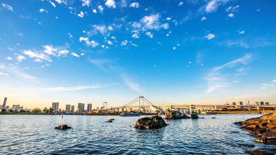 今日も1日お疲れ様! Landscape Photography at Odaiba Rainbow Bridge EyeEm Best Shots EyeEmJapan Tokyo