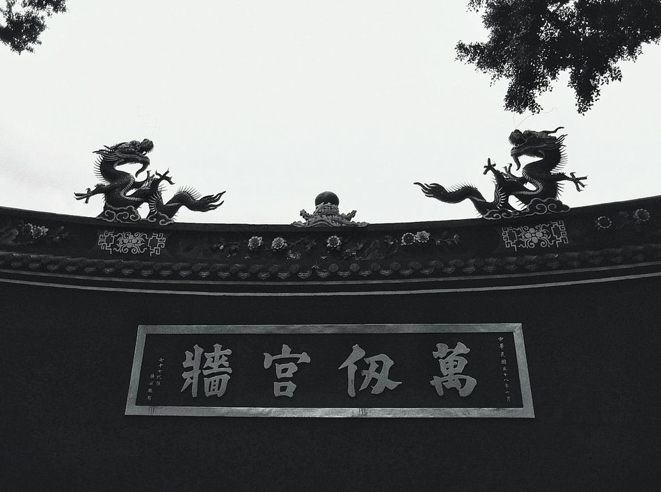 Monochrome Photography Chinese Architecture Confucian Temple Architectural Detail Chinese Culture Symmetry Simmetrical Building Simple Beauty Chinese Dragon Confucius-Maxim Chinese-Character From My Point Of View Light And Shadow Lookingup Trees No People Eye4photography  EyeEm Best Shots - Black + White Black And White Blackandwhite Contrast Of Shadows Darkness And Beauty at 台北孔廟 in Taipei,Taiwan (related photo:高雄孔廟『萬仞宮牆』full shot&close-up) http://www.eyeem.com/p/95407192 http://www.eyeem.com/p/78738651