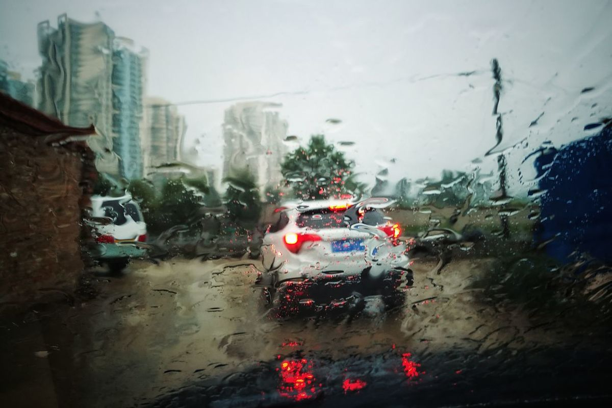 Rain Mode Of Transport Transportation Car Weather Wet Land Vehicle Window Rainning Day Raindrops On My Windshield