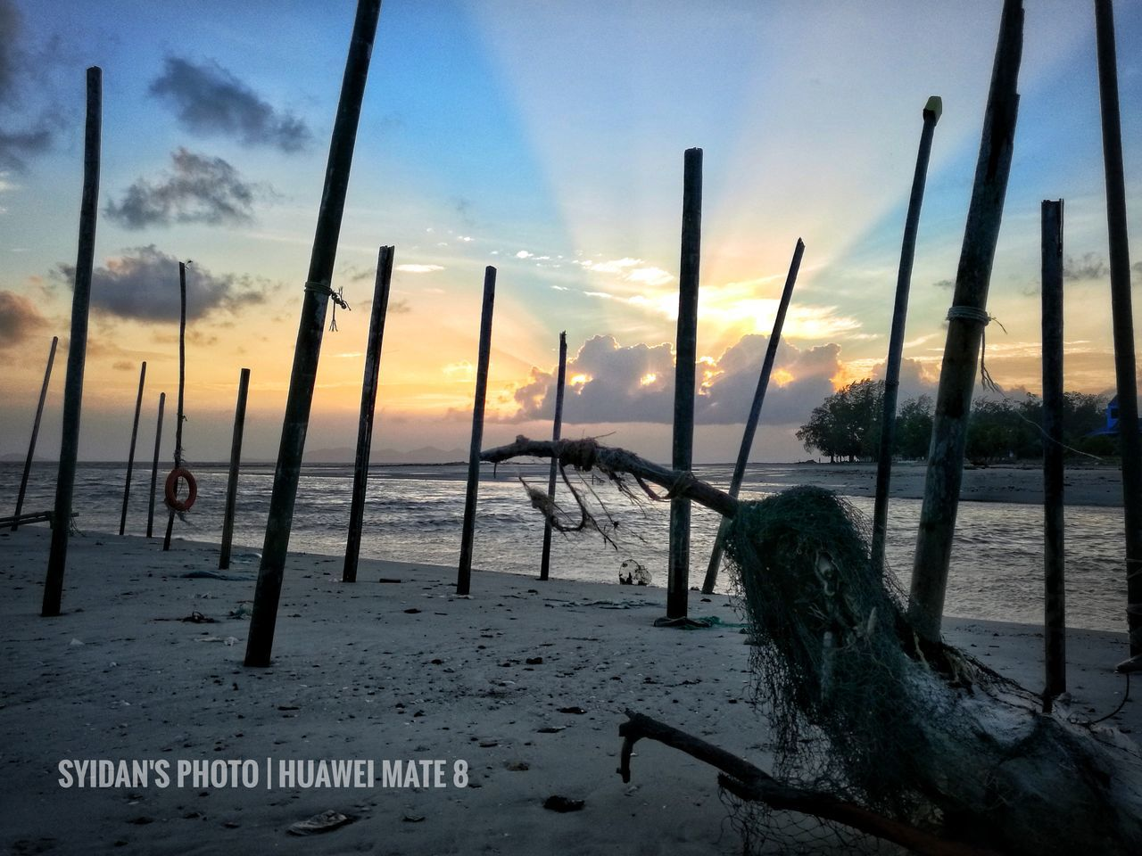 Sunrising Landscape Mediajohor The Great Outdoors - 2017 EyeEm Awards Huawei Mate 8 Snapseed Mersing Beauty In Nature Horizon Over Water Johor, Malaysia