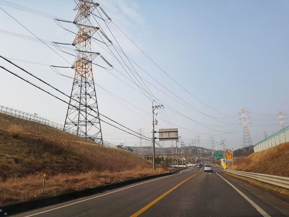 Road No People Outdoors Electric Tower  Electric Wires