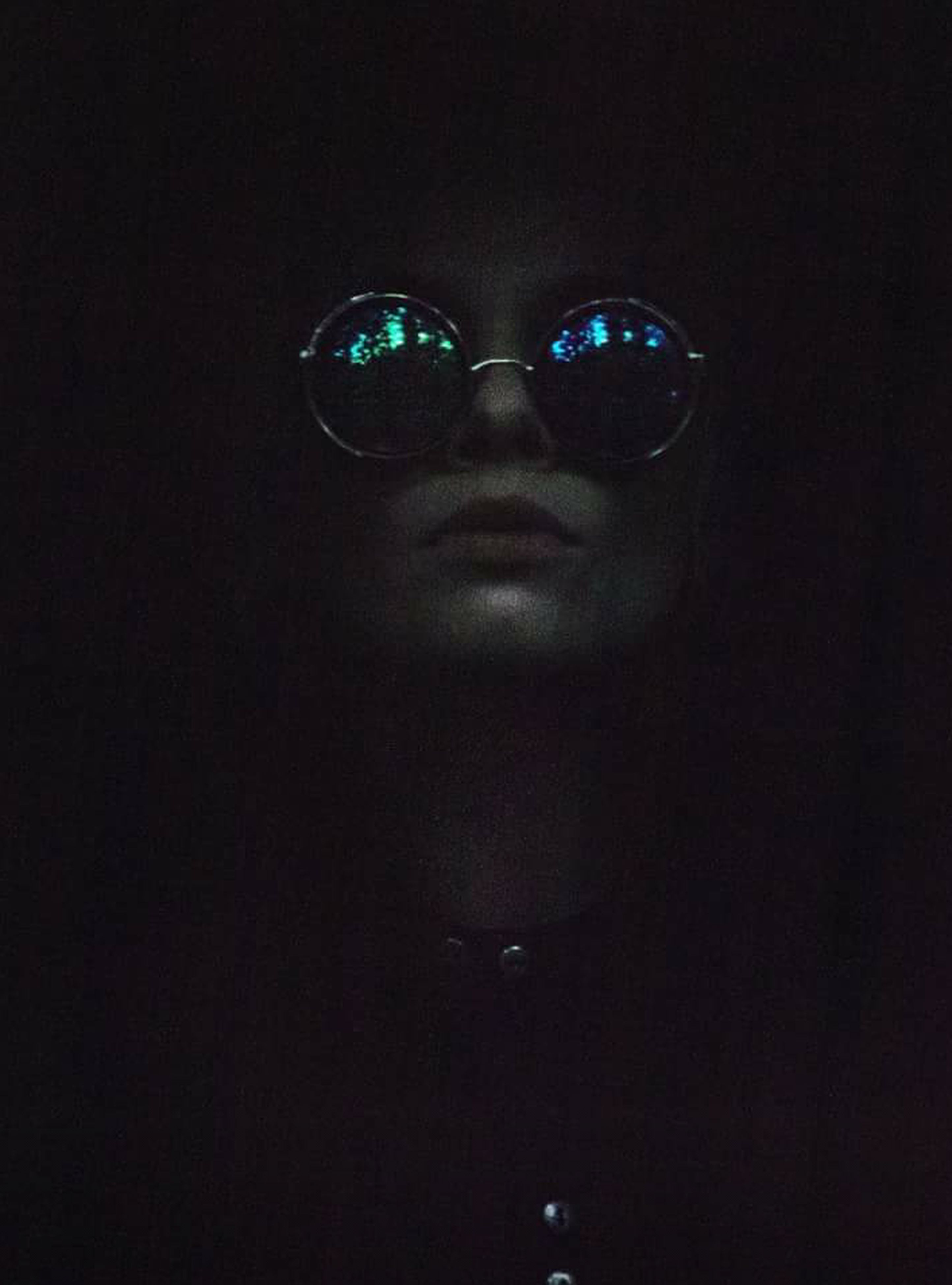 looking at camera, young adult, mask - disguise, green color