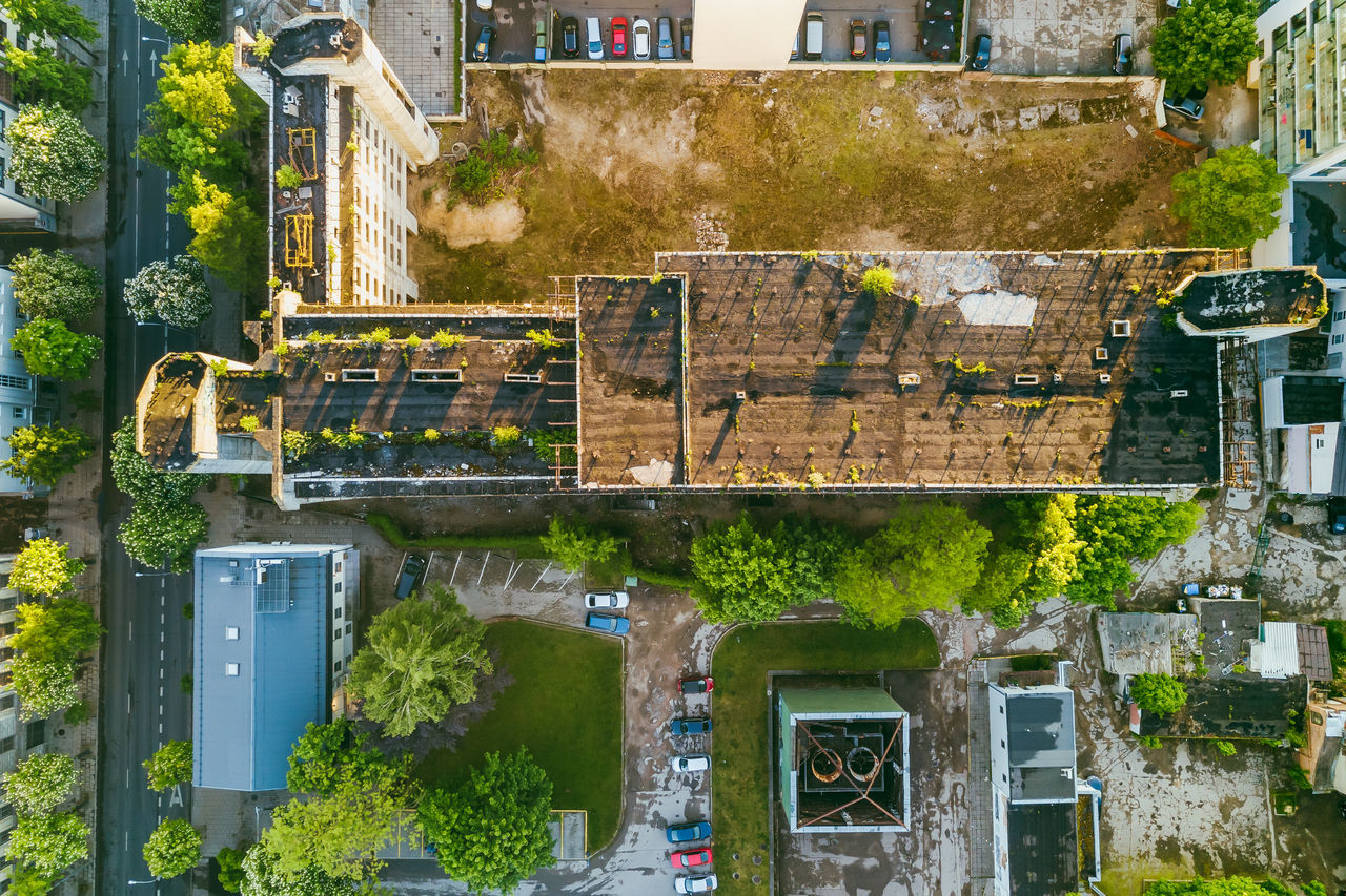 Abandoned building Abandoned Building Aerial View Architecture Building Exterior Built Structure Day Drone  Mammal Mavic No People Outdoors Summer Sunset Top Down