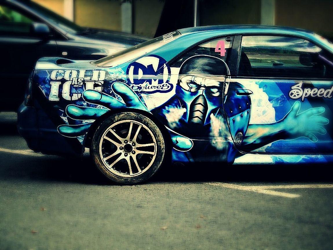 Need For Speed Monster Blue Car Speedygonzales Enjoying Life Xxx Sport Car Walking Around Sankt-peterburg Russia Auto Tattoo