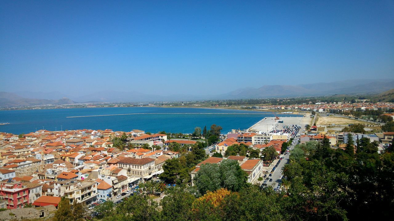 City City View  Cityscapes Urban Landscape View Viewpoint View From Castle View From The Top Seaside City Harbour Nafplio Peloponese Greece Historic City Shades Of Blue Amazing View Sea Mountains Mountains And Sea Breakwater Road City Entrance Market Reviewers' Top Picks