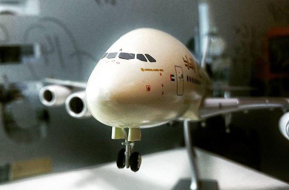 Super model... The Etihad Airbus A380-800