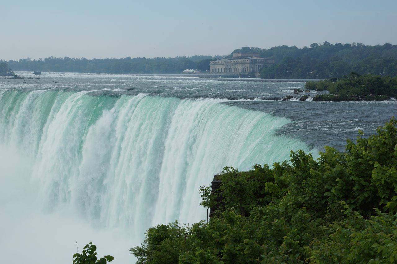 Beautiful stock photos of niagara falls, Beauty In Nature, Blurred Motion, Clear Sky, Day