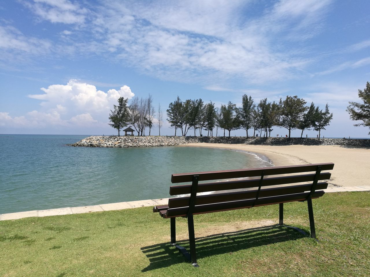 Nature Beach Tree Water Relaxation Landscape Outdoors Tranquility No People Cloud - Sky Sea Sky Horizon Over Water Brunei Darussalam