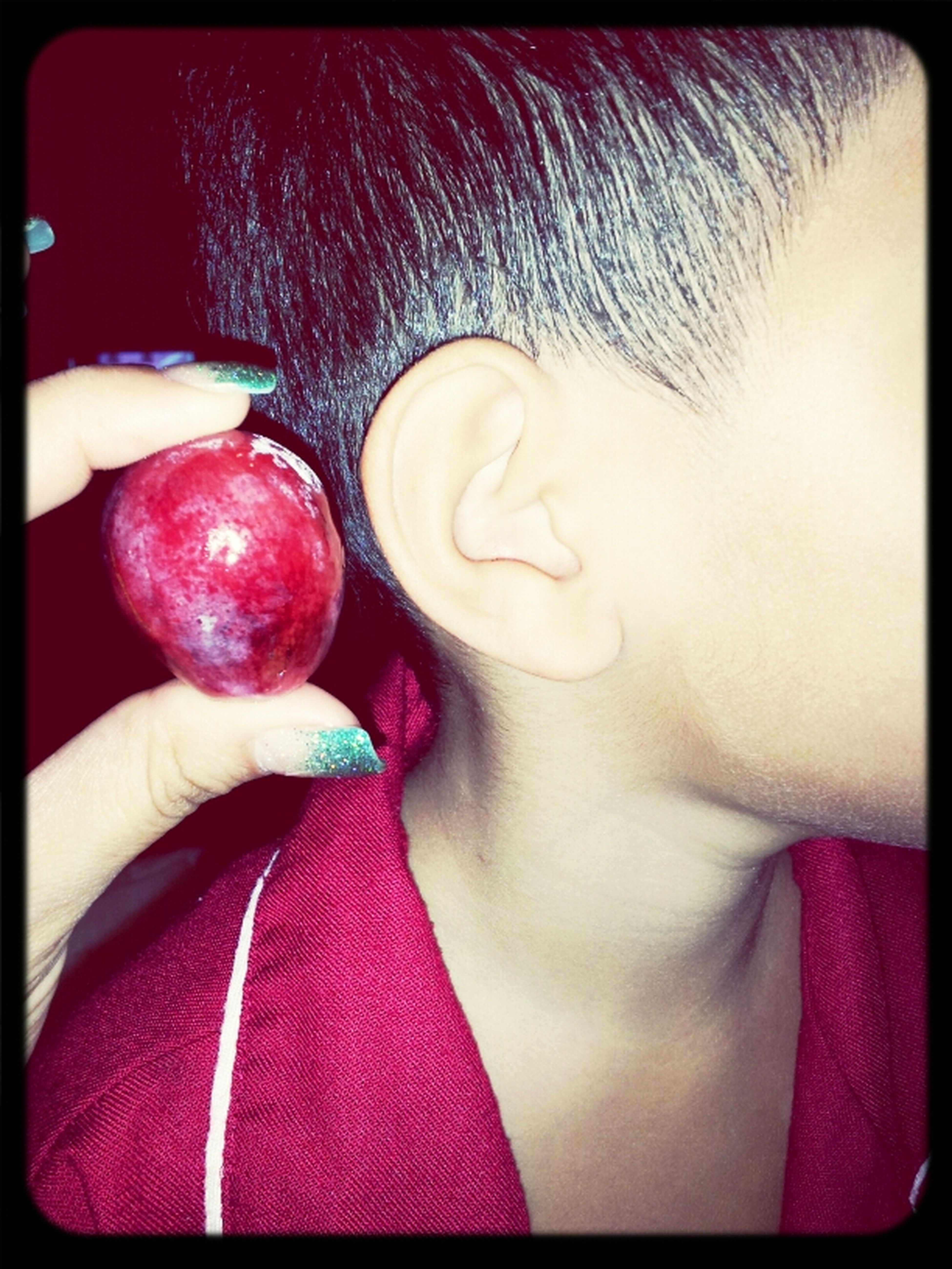 Biggest Grape I Have Ever Seen!! Almost As Big As My Boys Ear!
