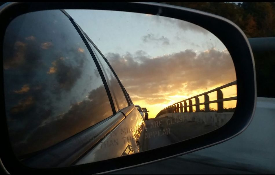 Rear view shot 3 Reflection Sunset Transportation Side-view Mirror Car Cloud - Sky Sky Orange Color Dramatic Sky Popular Photos EyeEm Gallery Eyemphotos Photography Beauty In Nature Rearviewmirror Nature Glass - Material Rearviewmirrorshot