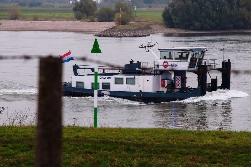 A pushboat on a river River Pushboat Vessel Nautical Vessel Water Tugboat Riverside River View Riverbank Landscape Landscape_Collection Germany Rhein Rijn Horizon Over Water Nikon Nikonphotography Dalton Mode Of Transport Transportation