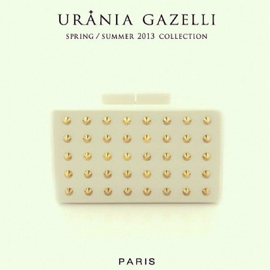 Uraniagazelli Lucite Perspex Plexiglass bags clutches minaudière minaudiere valerydemure handmade design studs gold madeingreece