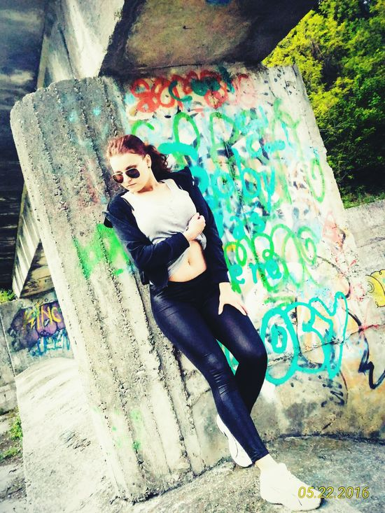 Female Model Female Adult Sitting Graffiti Graffiti Art Femme Lifestyles Red Hair EyeEm Best Shots Female Models Supermodel Approved Young Women Front View Leisure Activity Young Adult Feminism EyeEm Gallery Feminity Person Casual Clothing EyeEmBestPics Graffiti Wall Graffitti