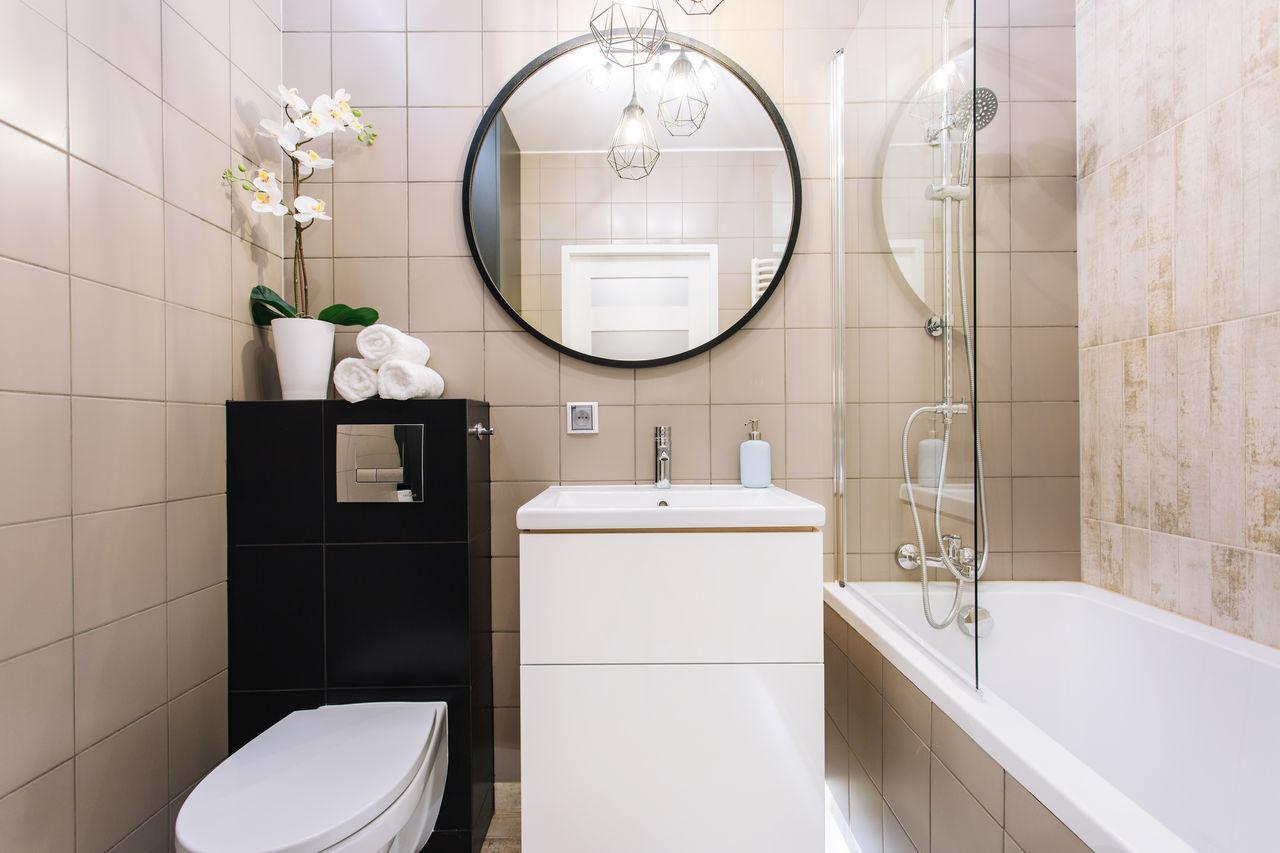 Beautiful stock photos of badezimmer, tile, bathroom, mirror, toilet