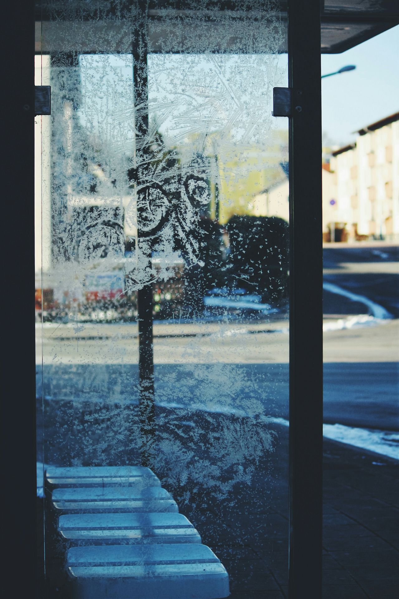 Glass - Material Window Transparent Indoors  Cleaning One Person Looking Through Window Sky Day Close-up Water Frosted Glass People City Life Snow Winter Cold Temperature Snowcristals  Weather The City Light