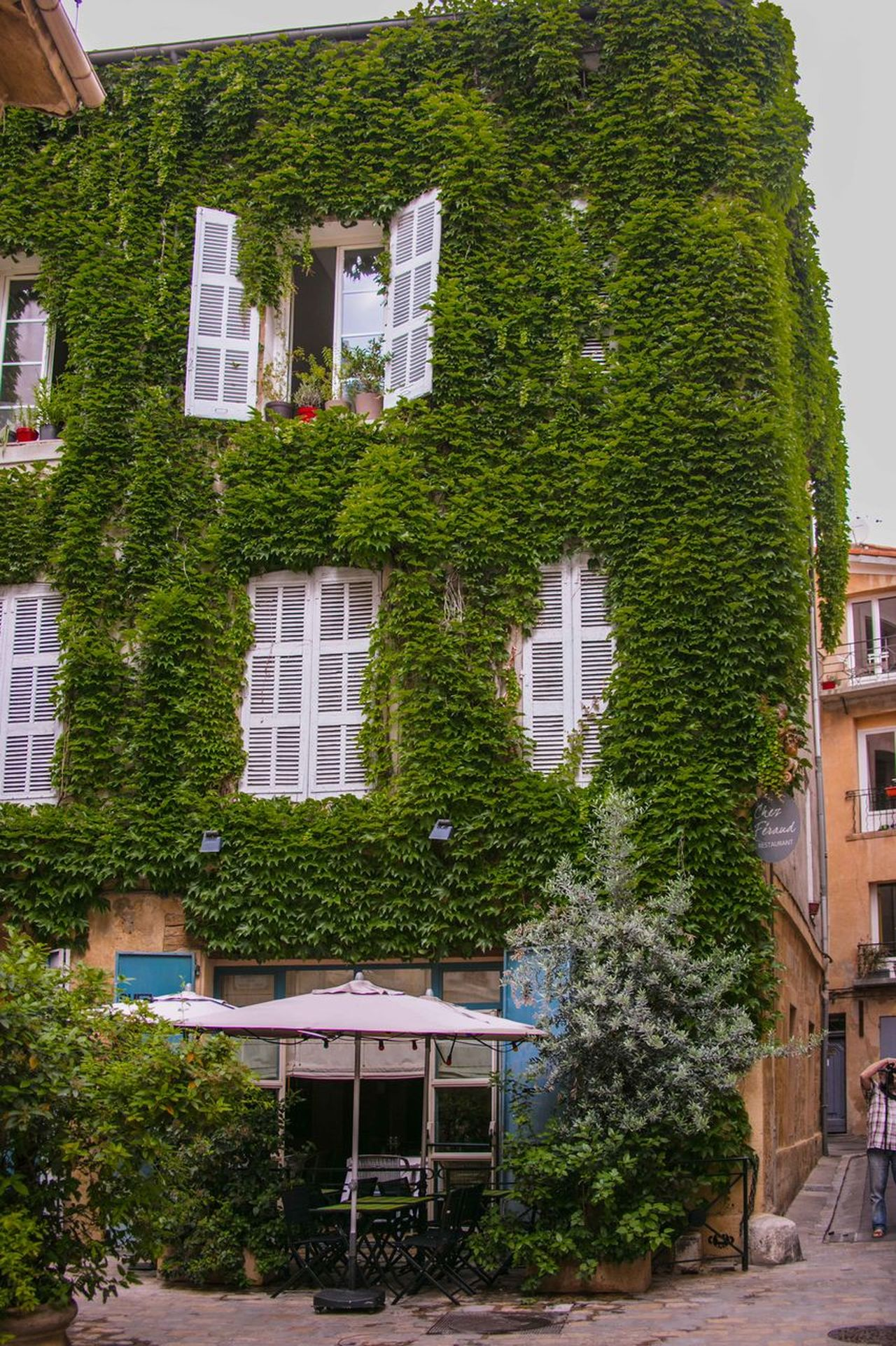 Aix En Provence Apartment Architecture Building Exterior Built Structure City Day France Green Color House No People Outdoors Provence Residential Building Tree