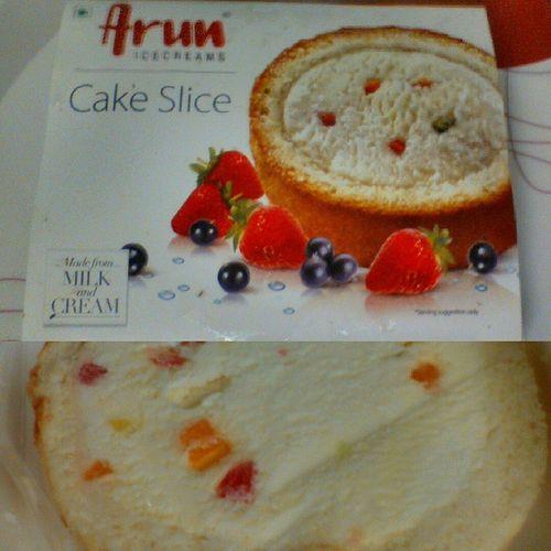 Tastes just awesome Arunicecream Cakeslice 😊😊 Love Tagsforlikes Instagood Tweegram Photooftheday Instamood Summer Picoftheday