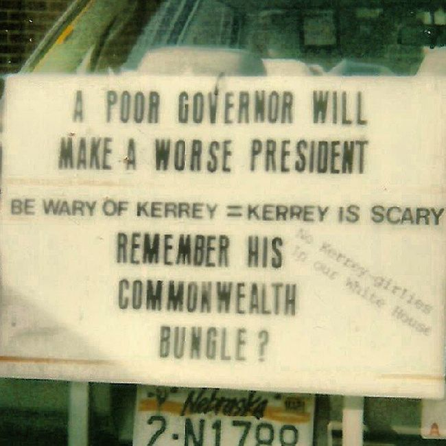 """Old Polaroid Shots - """"No Kerrey Girlies in Our White House"""" I guess this one speaks for itself Trailblazers_macro Trailblazers_rurex Ig_ruralamerica Rsa_rural rsa_signs rous_roadsigns royalsnappingartists justsigns signporn"""
