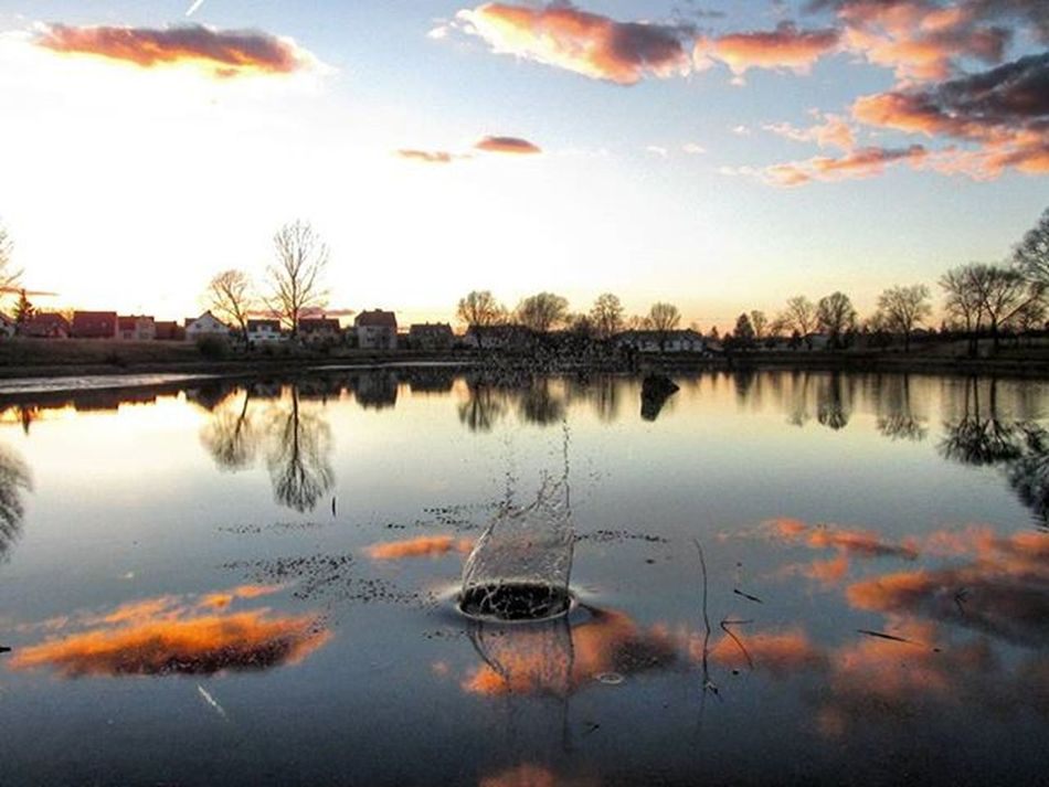 Dubnany Mocidla Czechrepublic Southmoravia Nature Wather Sunset Purpleclouds Clouds Trees Houses Sun Pond Mocidla Oldpic Valentine Top Picoftheday Thismoment Remember Me Impression Warmhole Memories Detail