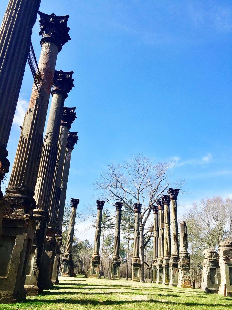 Remnant Columns Ruins Antebellum Mississippi  Natchez Trace