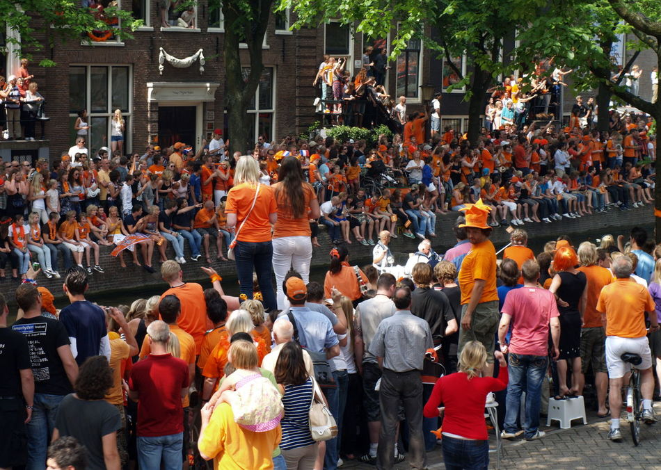 Adult Adults Only Amsterdam Arjen Robben Boat Can Ceremony Crowd Day Dutch Dutch Soccer Team Large Group Of People Men Orange Outdoors People Robben  Soccer Tree World Champion World Championship Soccer 2010
