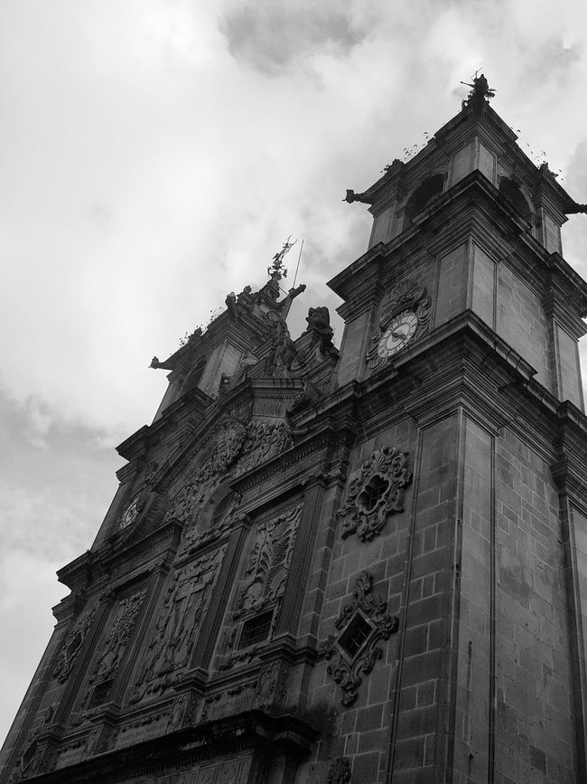 Monument Church Architecture Nortedeportugal Enjoying The View Monochrome Blackandwhite Blacj And White Antique Prospective Sky Bottom View