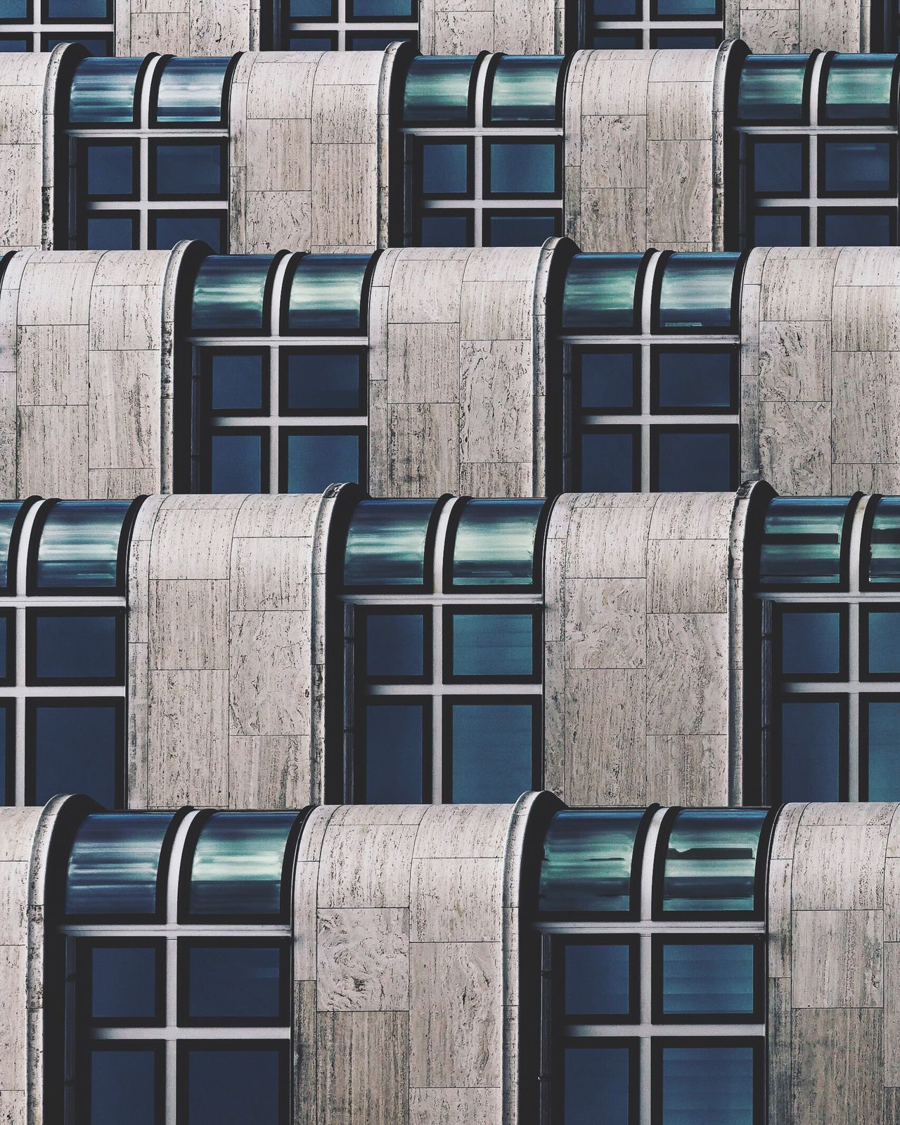 Berlin Facades. Berlin Berliner Ansichten Berlin Photography Berlinstagram Shell Haus  Window Built Structure Architecture In A Row Repetition Building Exterior Full Frame Outdoors Blue Order Exterior No People City Life Architecture Architecture_collection Architectural Detail Architecturelovers Pattern Pattern, Texture, Shape And Form The Architect - 2017 EyeEm Awards
