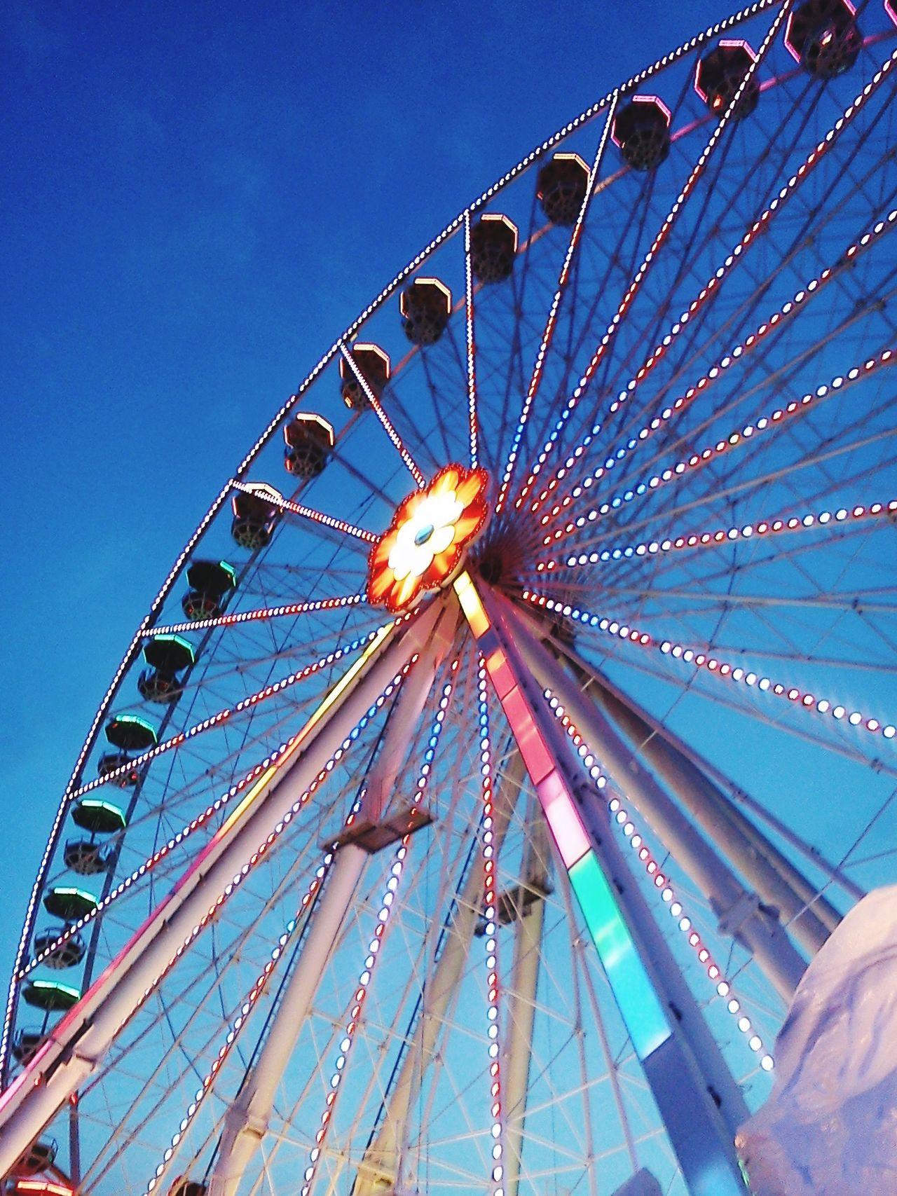 Ferris Wheel Night Outdoors Leisure Activity Prater/Vienna Prater Praterstern Prater Vienna Wheel Lights Colours