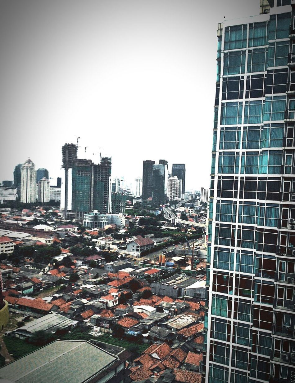 Kumuh Building Traffic Jam Mall Kuningan Jakarta afternoon