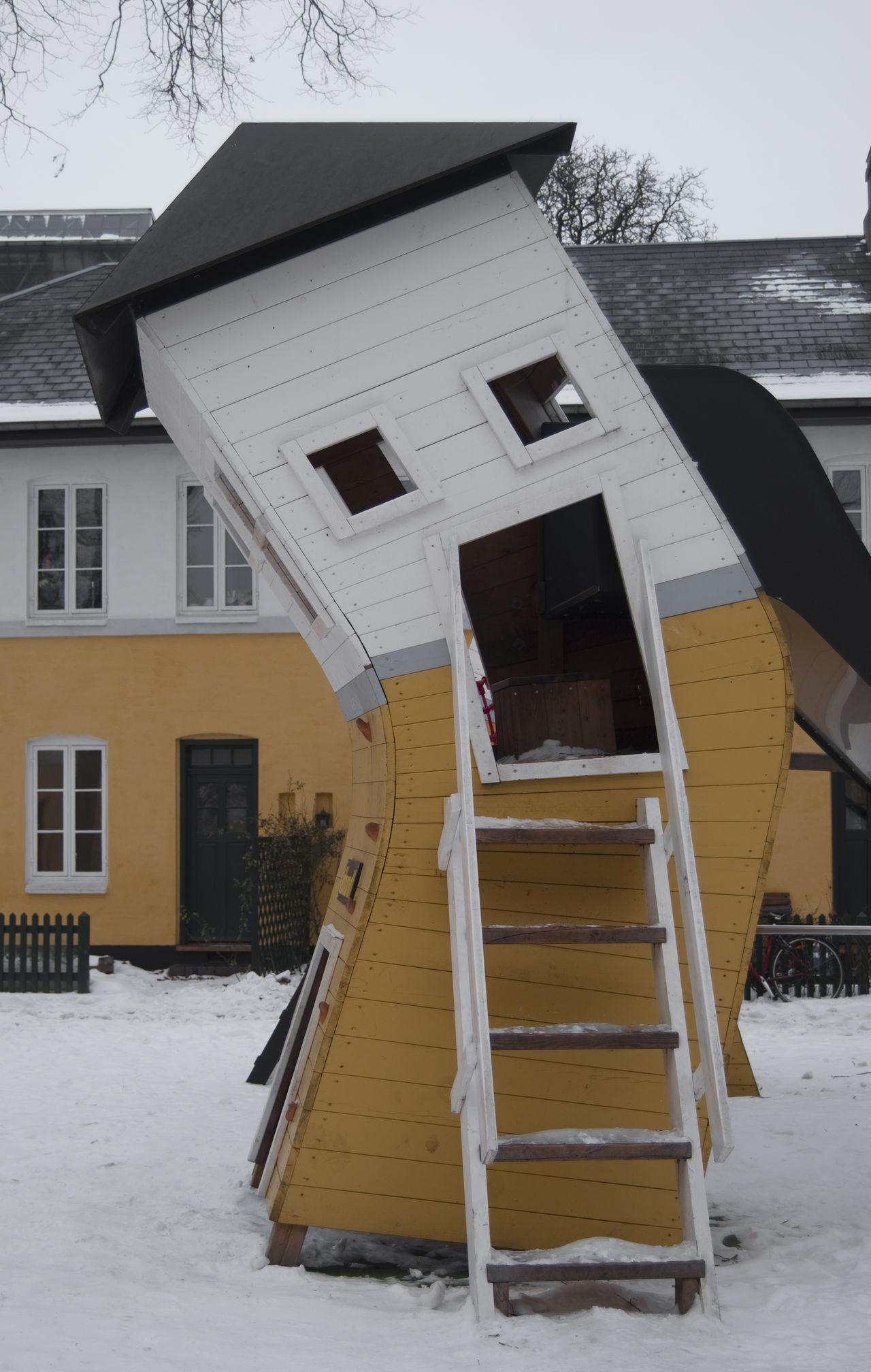 Architecture Building Exterior Built Structure Copenhagen, Denmark Funny Architecture House No People Snow Stair