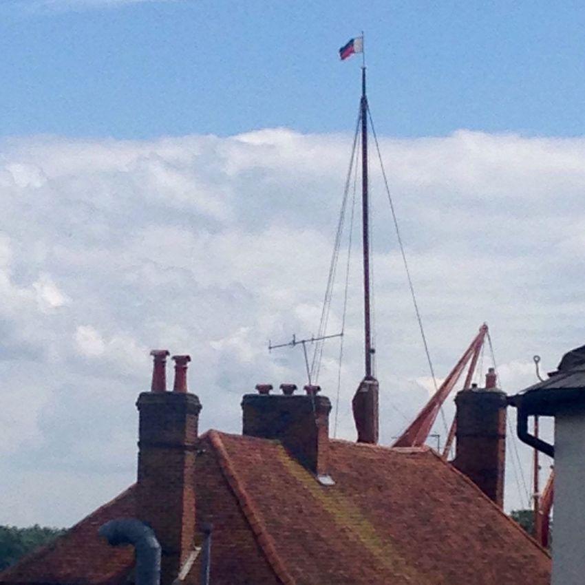 Maldon, Essex Thames Sailing Barge Roof Mast Flag Tiles