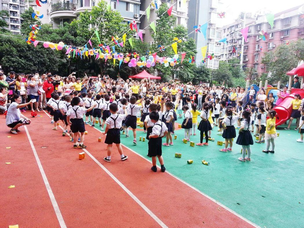 Children Day Shapingba Chongqing China Children Playing School Function School