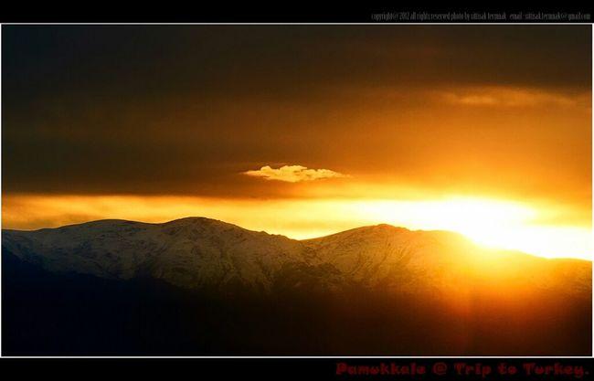 Sunset @ Pamukkale Turkey Landscape Enjoying The View Natural Turkey At Turkey Sun_collection Nature