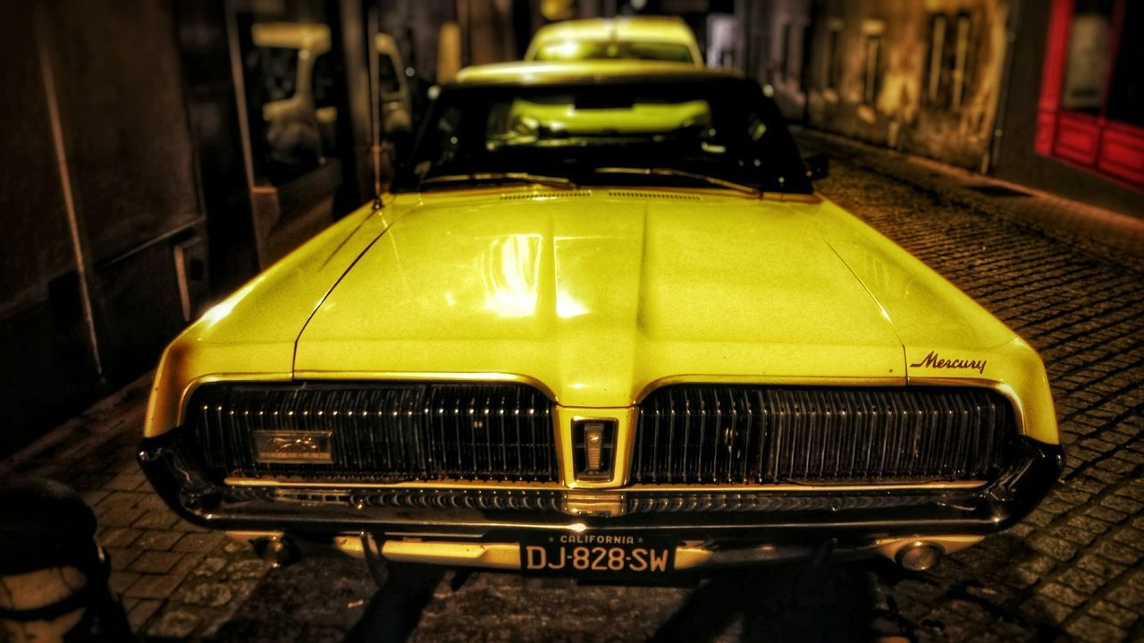 car, transportation, yellow, mode of transport, land vehicle, stationary, no people, day, outdoors, close-up