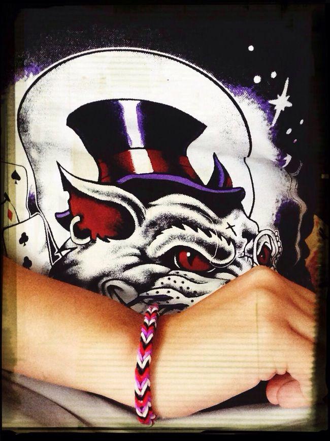 Tattoo Cult 💫 Rainbow Loom L'indien Boutique Rouge/Noir/Blanc/Violet *_*