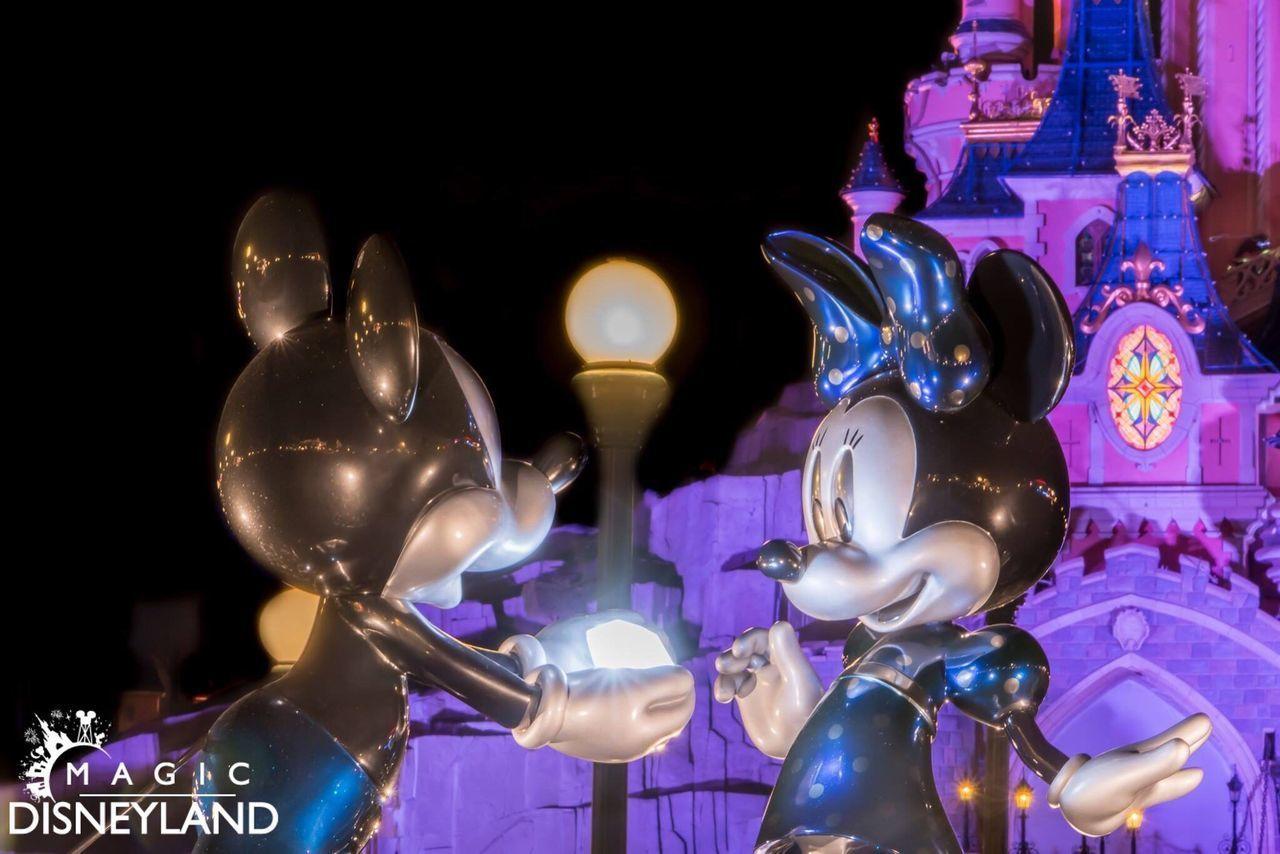 Magic Disneyland Resort Paris Illuminated Disneyland Paris Disneylandparis Disneyland Amusement Park Anniversary Disney Night Travel Destinations 25thanniversary Sparkle HDR Mickey Mouse