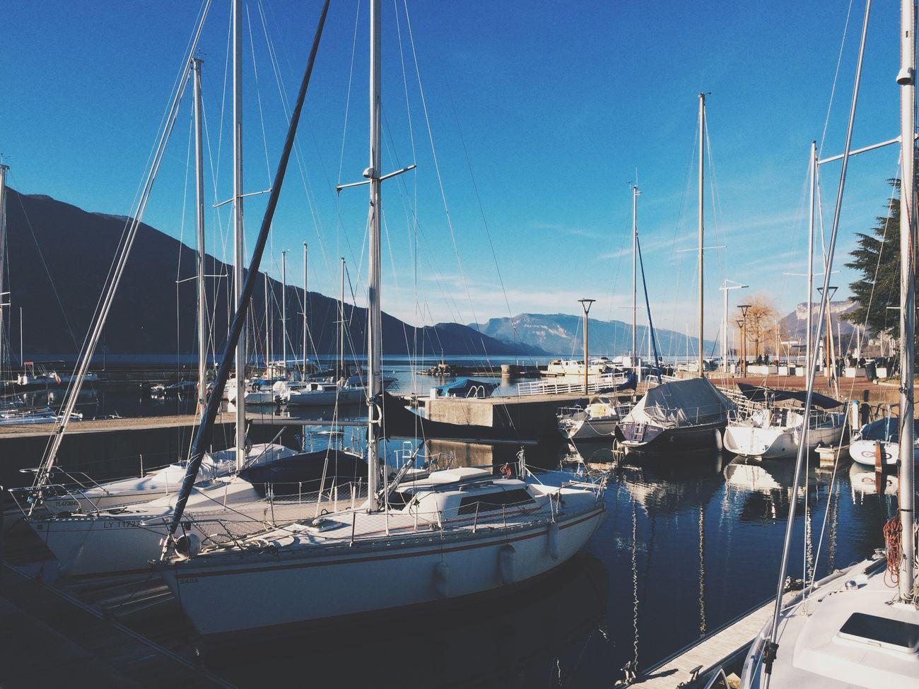 Aix Les Bains Lake Boat Sunny Day