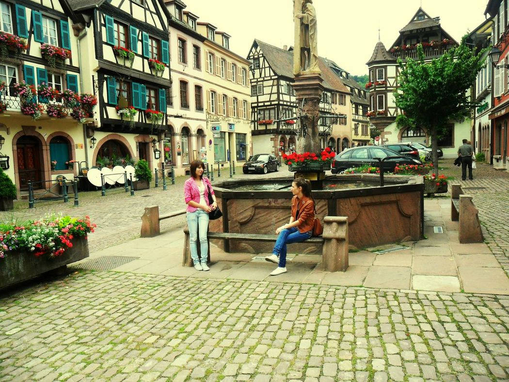 Holiday♡ France French Village Me & My Sister Square Old Houses