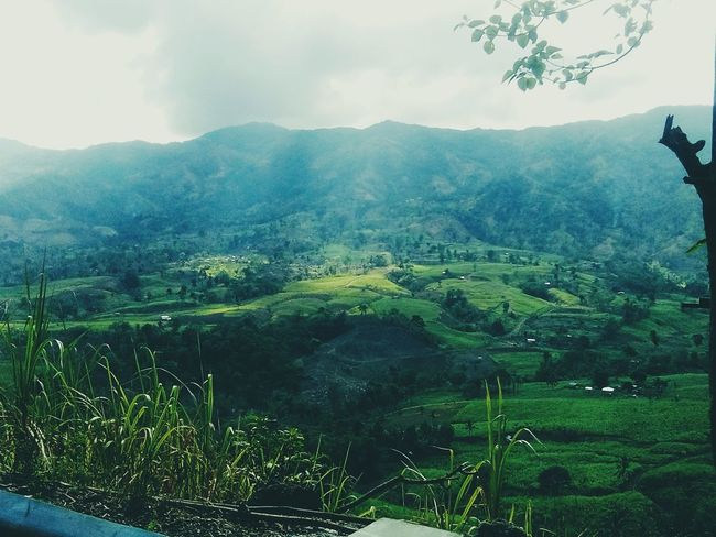 Mabinay🍃 Mabinay Landscape Green Hillside Sky And Clouds