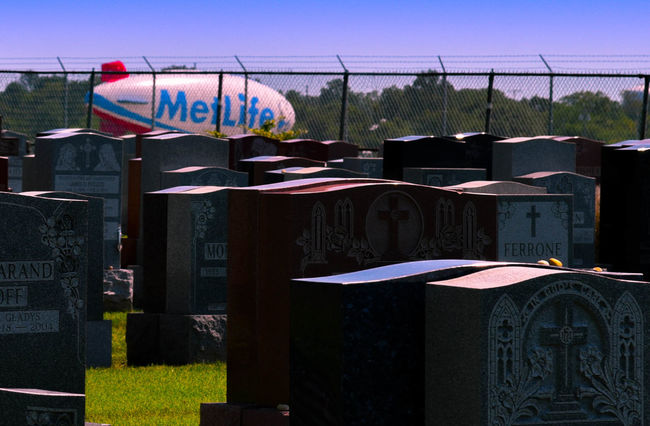 Blimp Cemetery Former Customers Met Life Met Life And Lost Metlife Multi Colored Payout